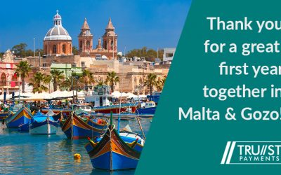 Celebrating one year of Trust Payments POS terminals in Malta and Gozo
